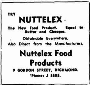 Nuttelex advertising 1938