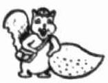 The Nuttelex squirrel logo