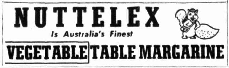 Nuttelex advertising 1950s