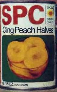 SPC Peach Halves 15 oz can