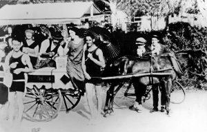 Slip's ice cream - horse drawn cart 1920s